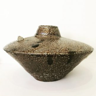 Sculptural ceramic vessel
