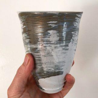 Grey and white beaker
